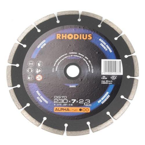 Diamantschijf 230x10x2,3x22,23 Rhodius
