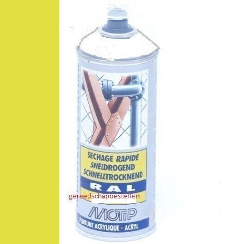 Verf spuitbus Industrial Lak RAL 1016 Motip 400 ml
