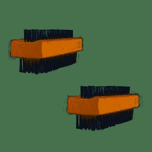 Schrobborstels 2-Delig