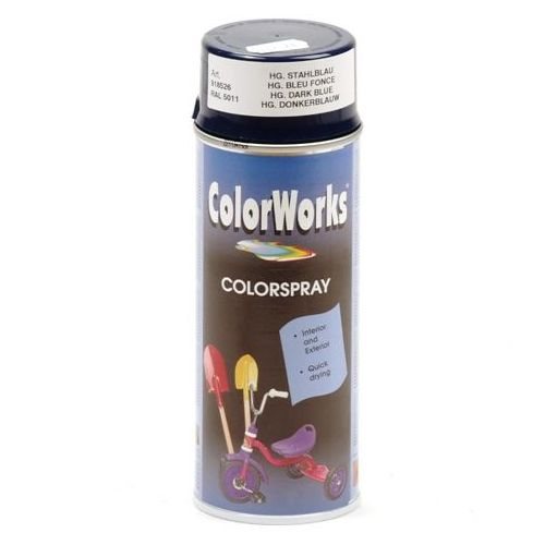 Colorworks RAL5011 staal blauw 400 ml
