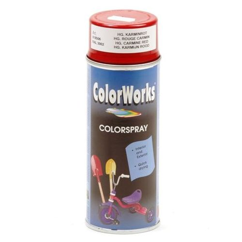 Colorworks RAL3002 rood 400 ml