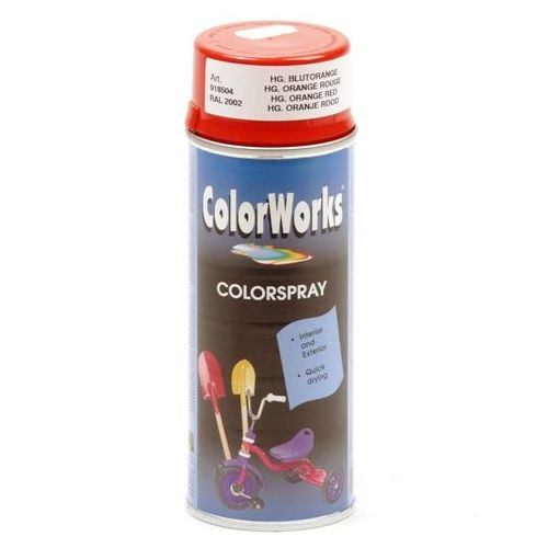 Colorworks RAL2002 oranje rood 400 ml
