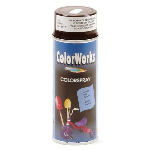 Colorworks RAL8017 choco bruin 400 ml