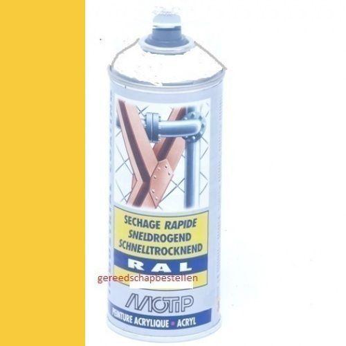 Verf spuitbus Industrial Lak RAL 1018 Motip 400 ml
