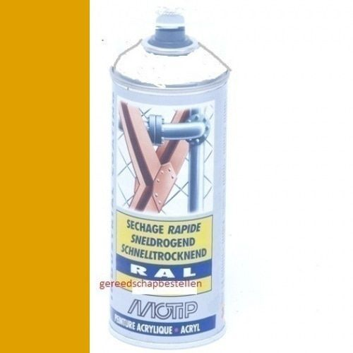 Verf spuitbus Industrial Lak RAL 1028 Motip 400 ml