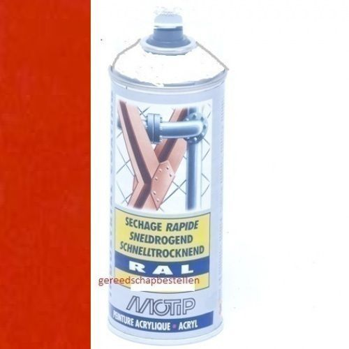 Verf spuitbus Industrial Lak RAL 2002 Motip 400 ml