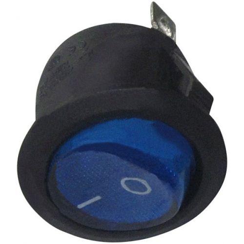 Schakelaar rond 20 mm aan/uit blauw