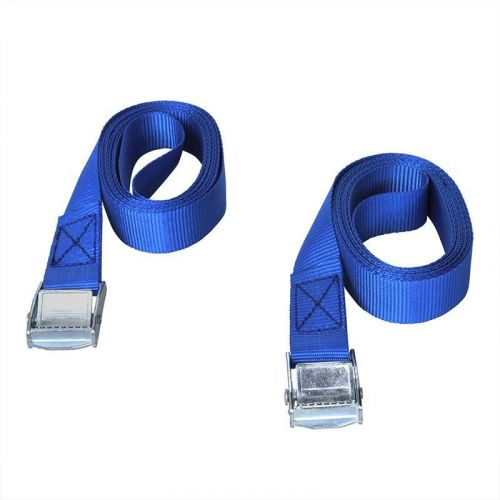 Sjorband met snelsluiting 2x2,5 meter blauw polyester