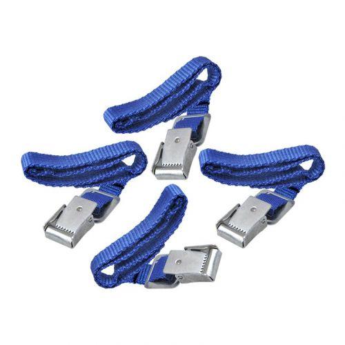 Fietsbandje blauw met metalen gesp 4 suks