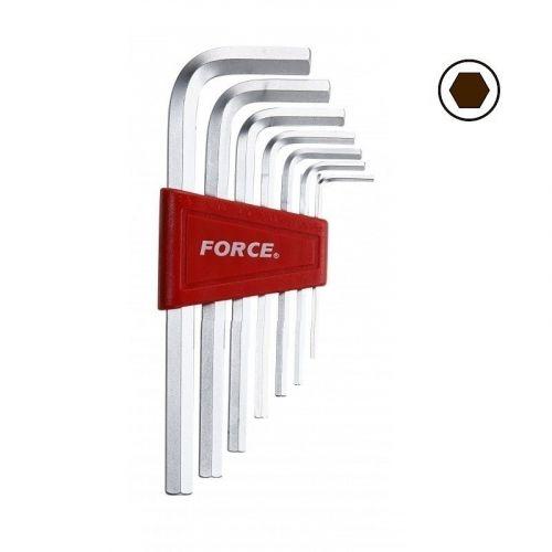 Haakse inbussleutelset 7-delig Force