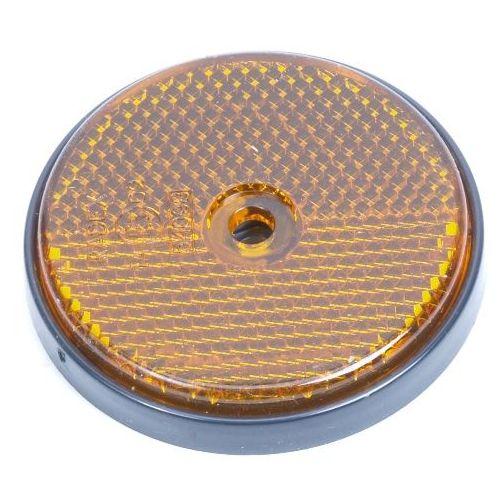 Reflector oranje rond 60 schroef