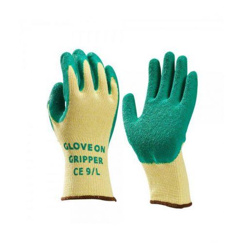 handschoen latex gecoat groen L (9)