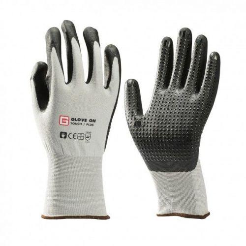 Handschoen nylon met nitrile genopt maat L (9)