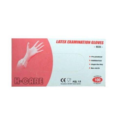 Handschoen latex gepoederd maat XL
