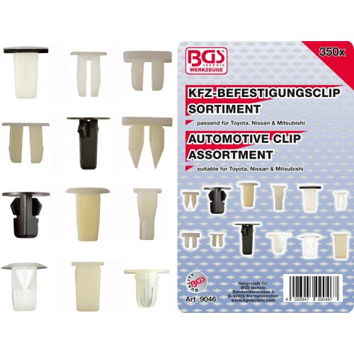 Auto clips voor Toyota, Nissan & Mitsubishi 350-delig BGS.