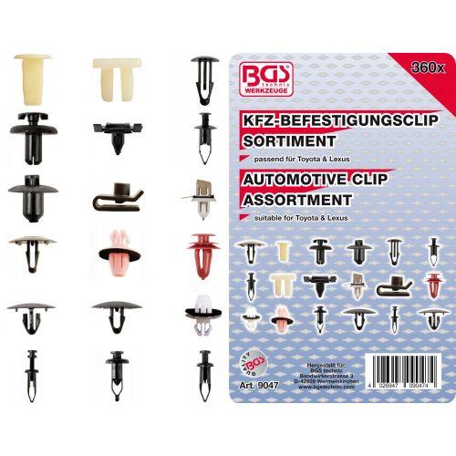 Auto clips voor Toyota & Lexus 360-delig BGS