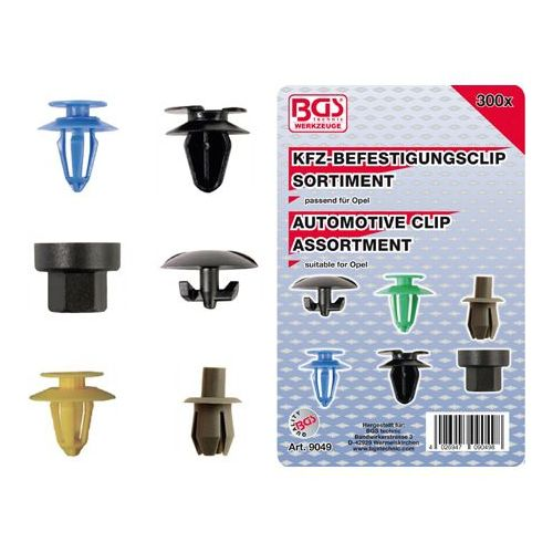 Auto clips assortiment Opel 300-delig