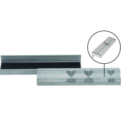 Bankschroef opzetbekken set aluminium 125 mm dubbele V-groef