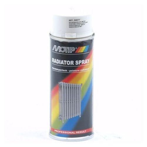 Verf spuitbus radiatorlak wit Motip 400 ml