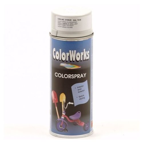 Colorworks RAL7035 grijs 400 ml