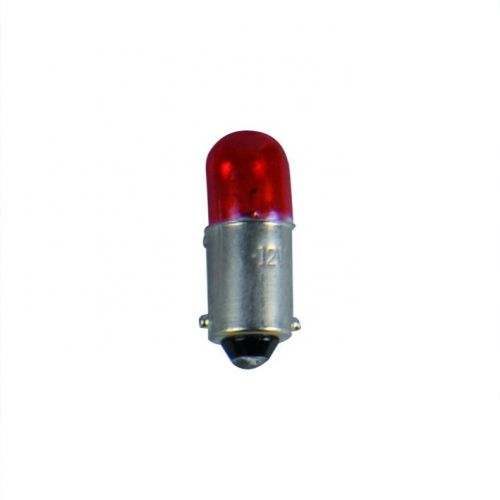 Lamp 12V 4W BA9s rood