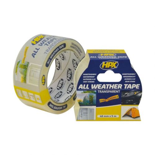 All weather tape transparant 48 mm x 5 m HPX