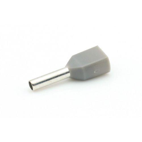 Adereindhuls 0,75 mm² grijs 2-voudig