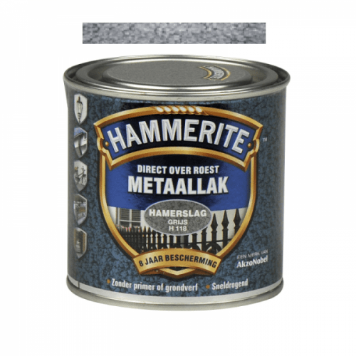 HAMMERITE Hamerslag grijs H118 250 ml