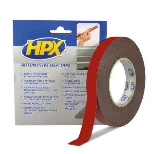 Dubbelzijdige acryltape 12 mm x 10 m HPX
