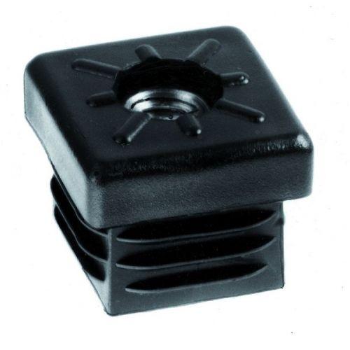 Insteekdop 45x45 met moer M10 zwart