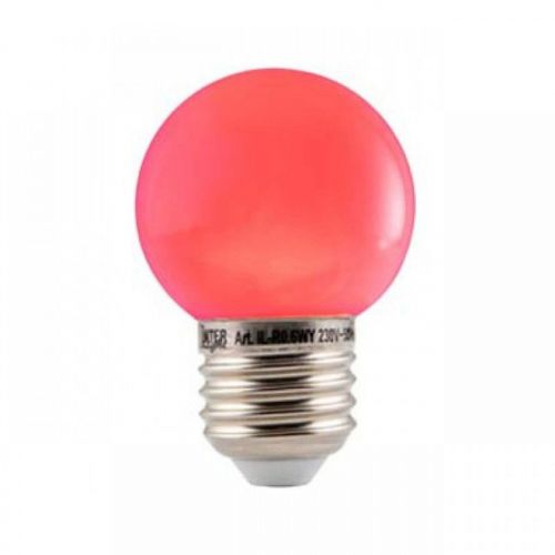 Led Lamp Bol E27 Rood
