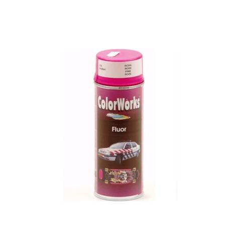 Verf spuitbus rose-fluor Colorworks 400 ml