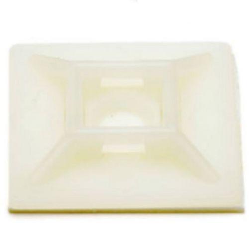 Plakzadel 28x28 mm naturel per 100 stuks