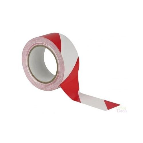 Afzetlint rood/wit 50 mm x 50 meter
