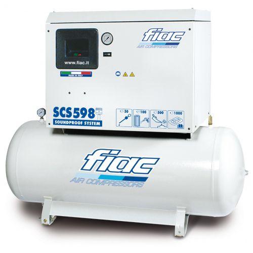 Compressor 270 liter geluid gedempd
