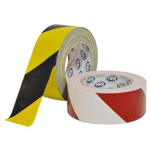 markeringstape geel/zwart 48 mm x 25 m HPX